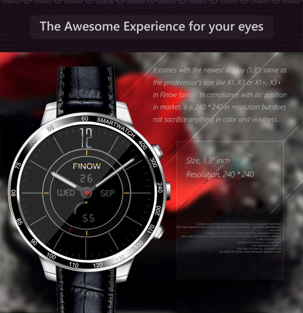 Finow Q7 Plus waterproof smartwatch with 43000mAh battery
