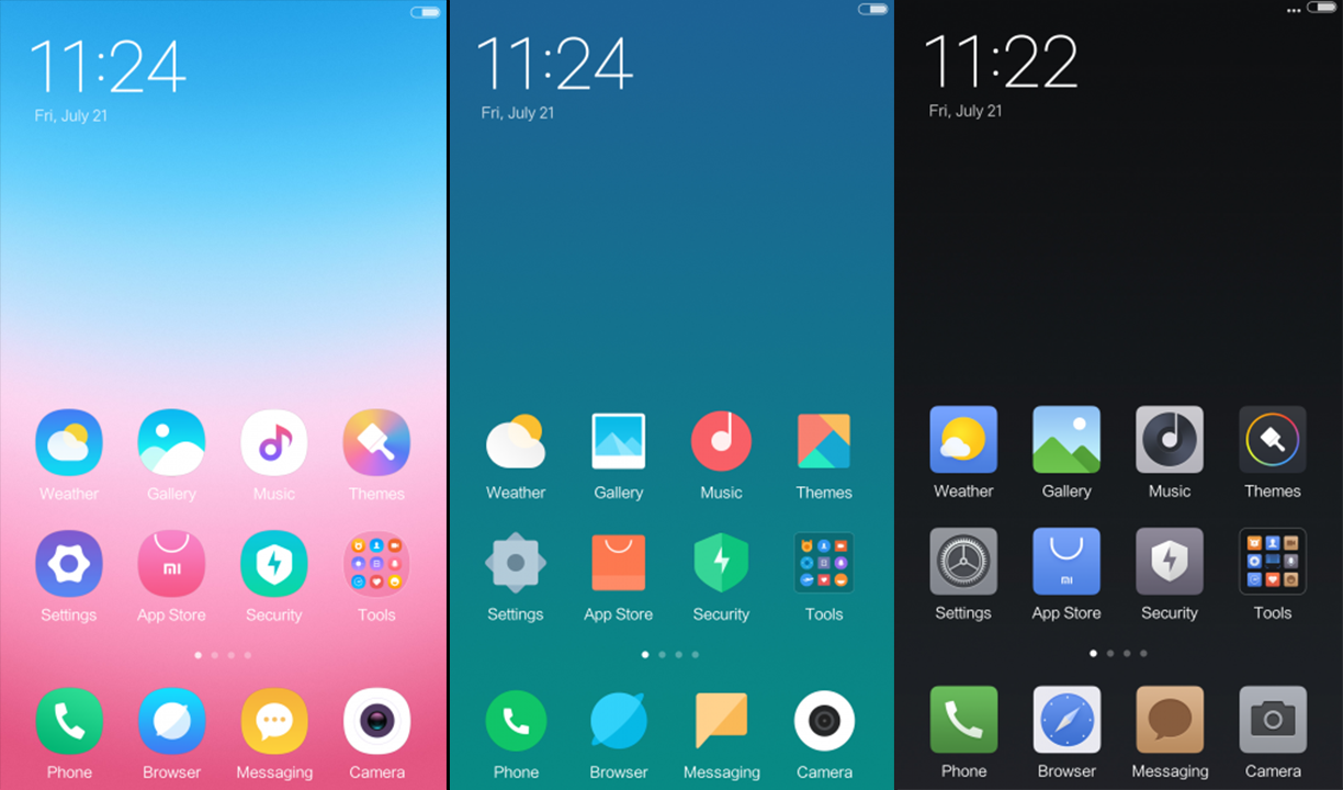 Preview of MIUI 9 New Official Themes  Which One is Your