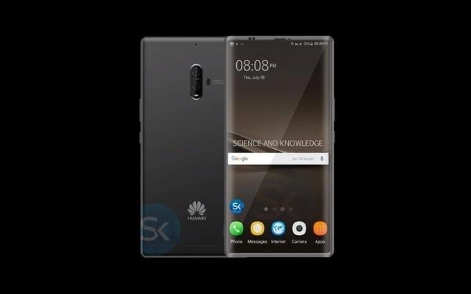 Flagship smartphone Huawei Mate 10 and Huawei Mate 10 Pro
