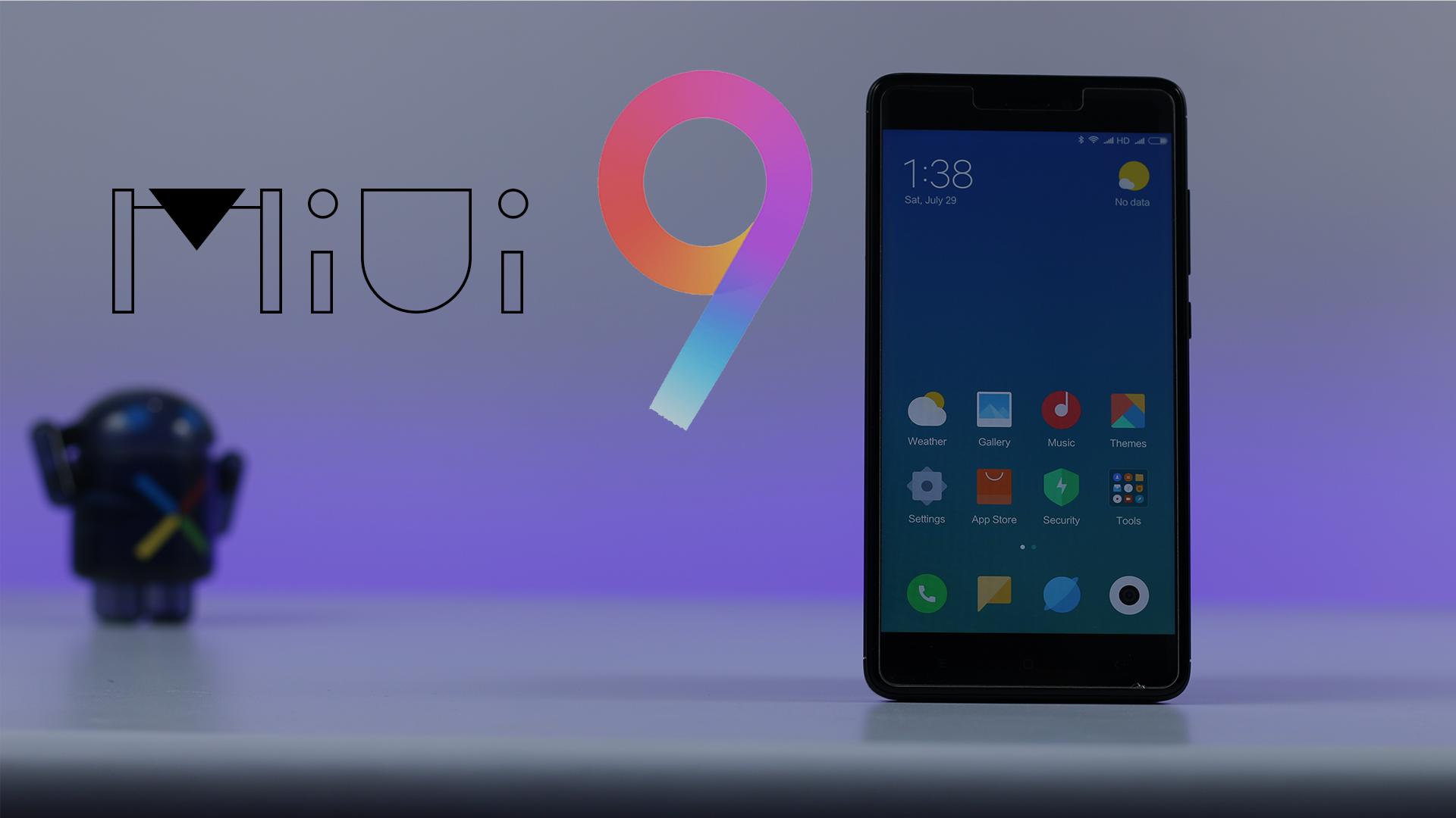 MIUI 9 For Redmi Note 4
