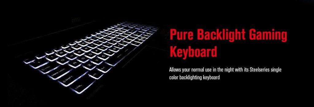 gaming laptop msi GL62M backlit keyboard