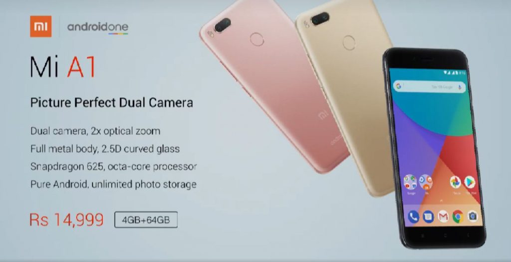 Xiaomi Mi A1 India Launch Mi 5x Stock Android Price And Availability