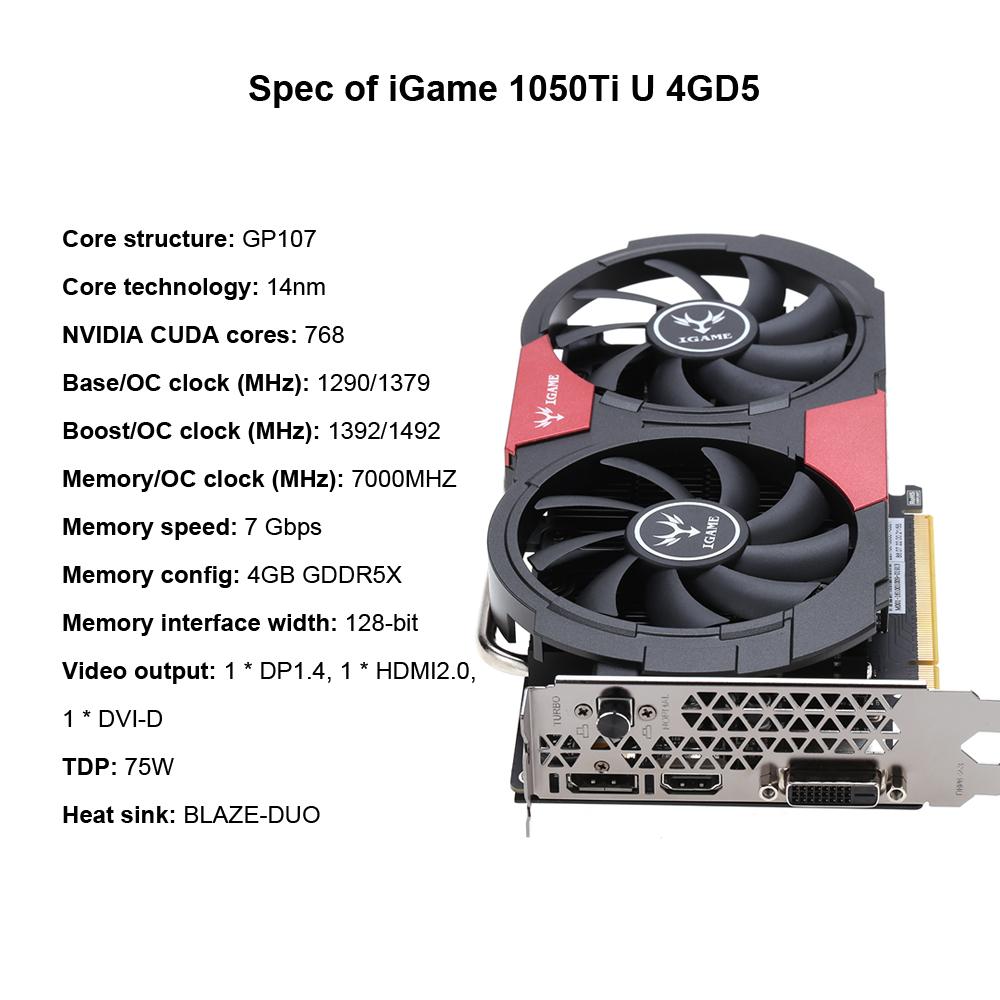 NVIDIA GeForce GTX 1050Ti graphics card