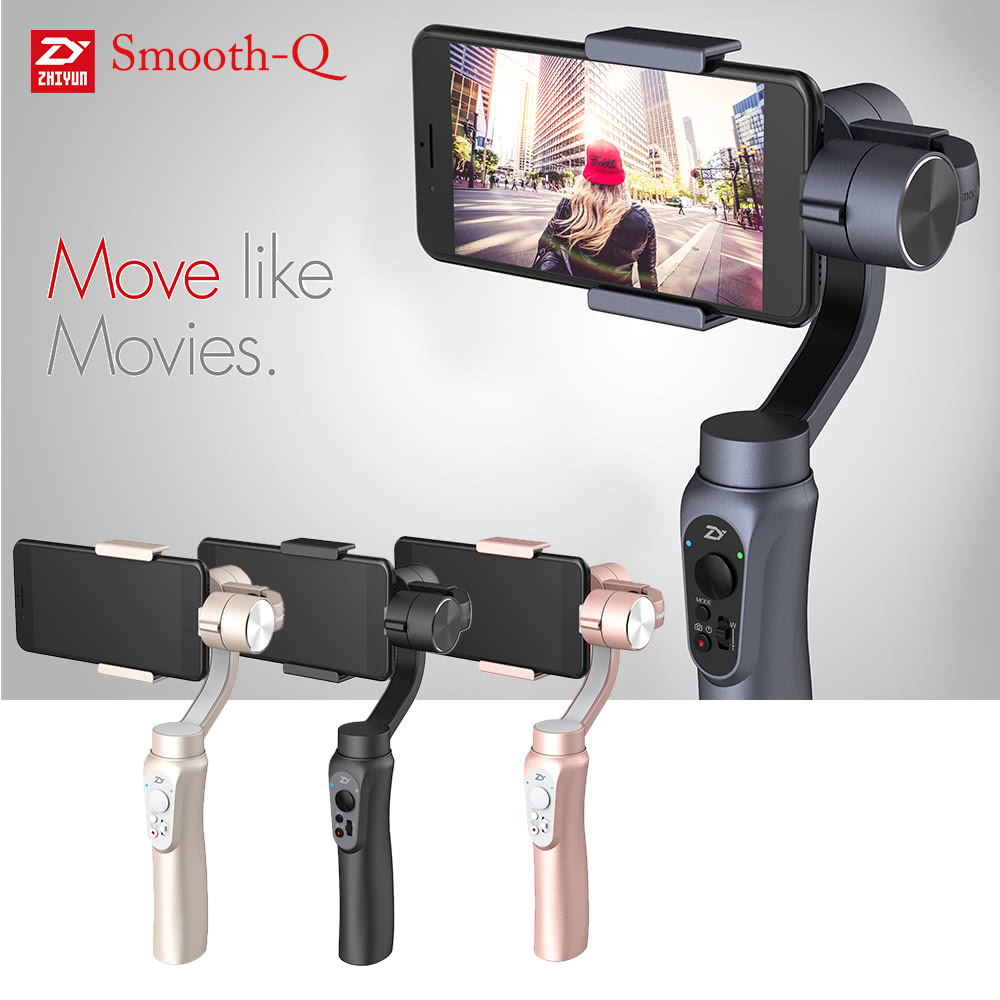 zhiyun smooth q gimbal xiaomitoday. Black Bedroom Furniture Sets. Home Design Ideas
