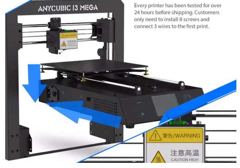 Anycubic I3 MEGA Full Metal Frame FDM 3D Printer