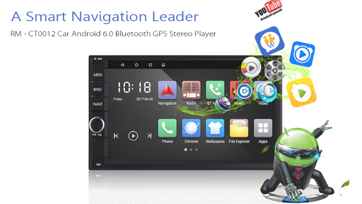 RM - CT0012 Android 6 0 Bluetooth GPS Stereo Car Player For