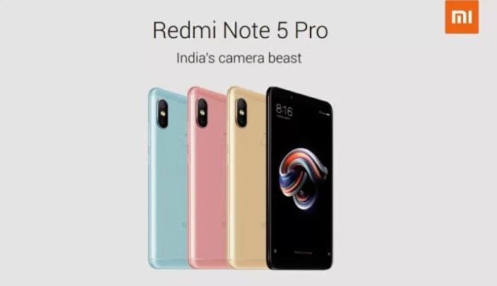 Xiaomi Redmi Note 5 colors