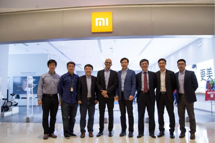 Satya Nadra visited China to visit Xiaomi and meet with Lei Jun