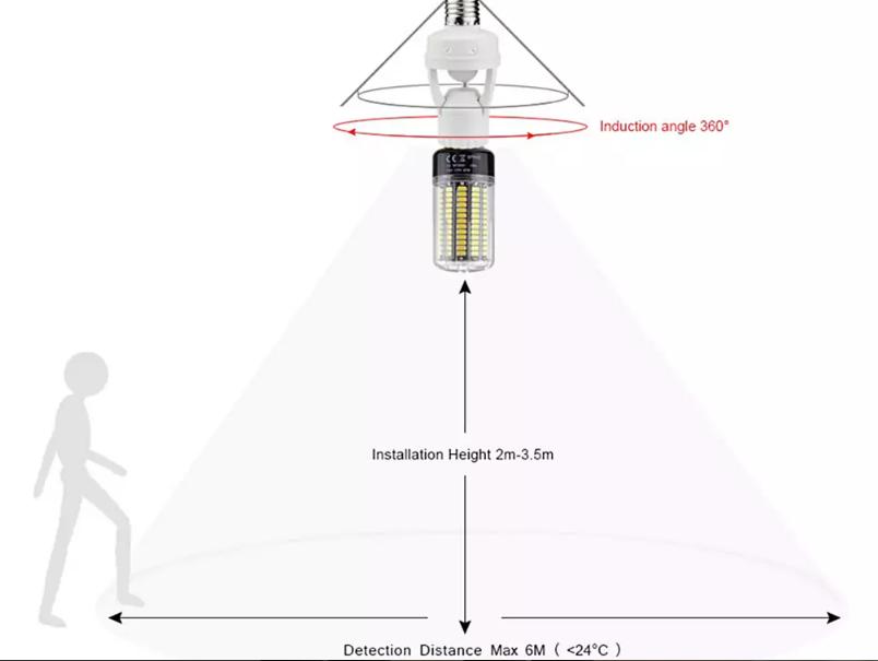 smart lamp bulb holder with infrared motion sensor offered for  9 81