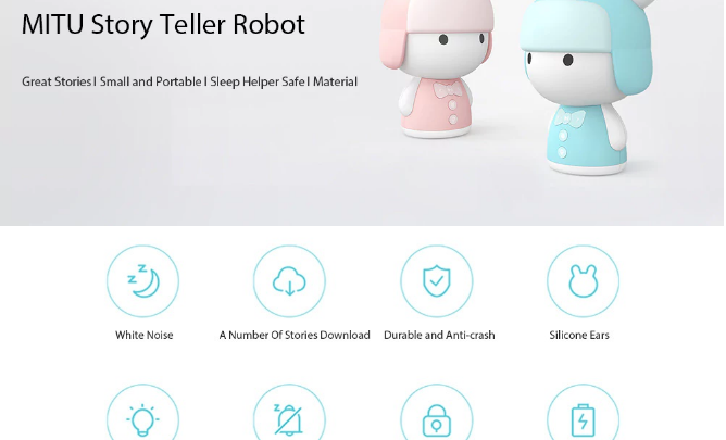 Xiaomi MITU Mini Story Teller Robot Machine & Sleep Helper