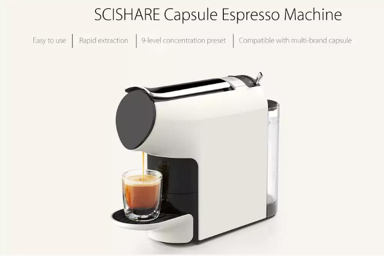 Xiaomi SCISHARE Capsule Espresso Coffee Machine Offered For 126