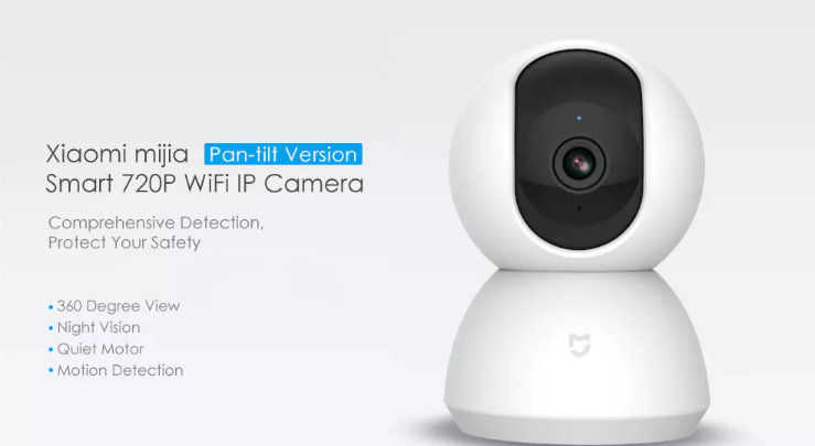 2. Xiaomi Mijia Smart 720P WiFi IP Camera Pan-tilt Version