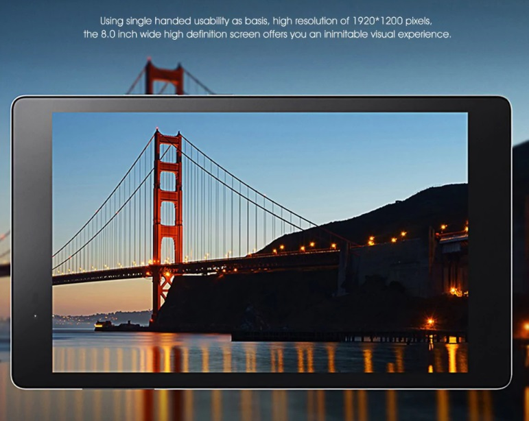 Lenovo Tab3 P8 Plus display