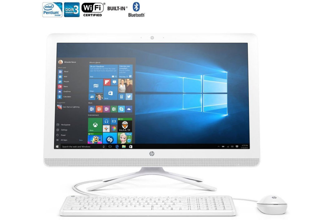 HP 21.5-Inch Full HD IPS All-in-One Desktop PC - Top 10 Desktop Computers – The Ultimate Buying List