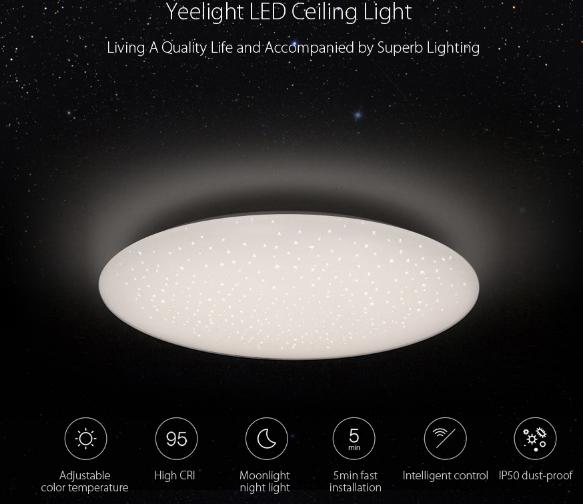Xiaomi Yeelight Wifi Bluetooth App Control Led Ceiling