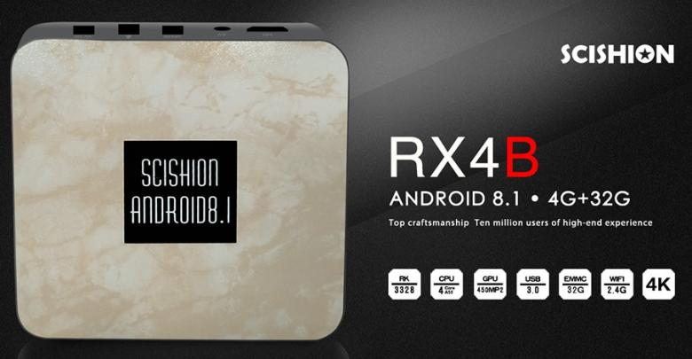 SCISHION RX4B Android 8.1 TV Box