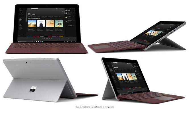 Microsoft Surface Go 2 in 1 Tablet PC 4GB + 64GB Offered For