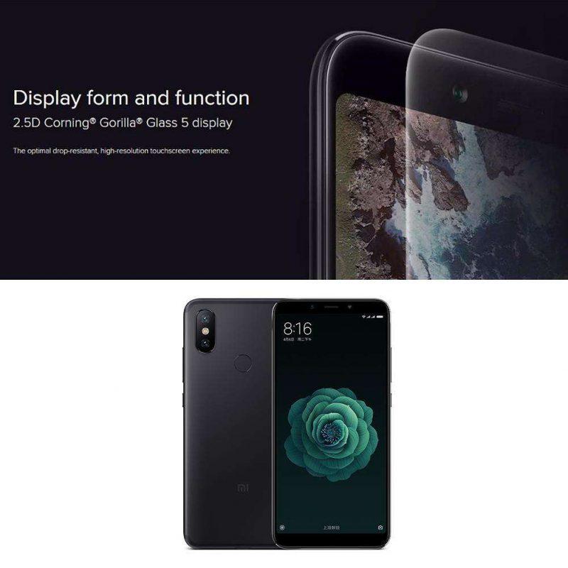 Global Version Xiaomi Mi A2 Android8.1 Octa Core 4G Phone w/4+64GB (Black)