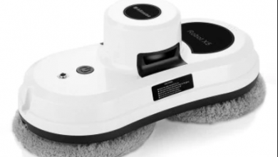 Alfawise S60 Window Cleaner Cleaning Robot - WHITE EU PLUG 2090