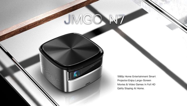 Original JMGO N7 DLP 1300 ANSI Lumens Home Theater Projector– GRAY
