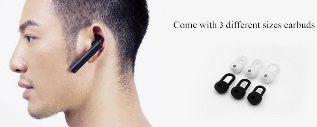 Xiaomi Youth Version Mini Light Wireless Bluetooth 4.1 Earphone Size