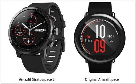 selección premium f4998 ccb9d Xiaomi Amazfit Stratos smartwatch($151) vs Amazfit Pace ...