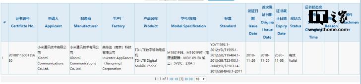 Xiaomi 3C Certificate