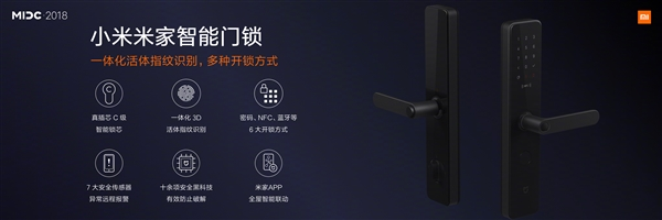 The company introduced the Mijia Smart Door Lock