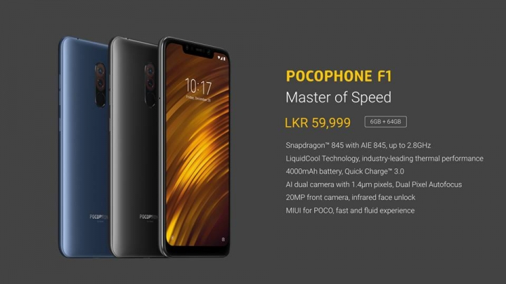 The Xiaomi Pocophone F1 makes its arrival in this country