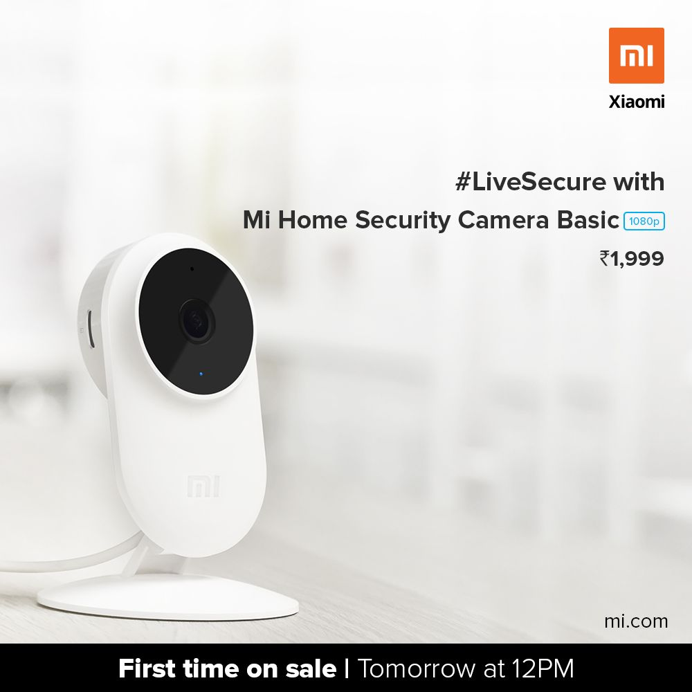 Xiaomi launches Mi Home Security Camera Basic 1080p In India