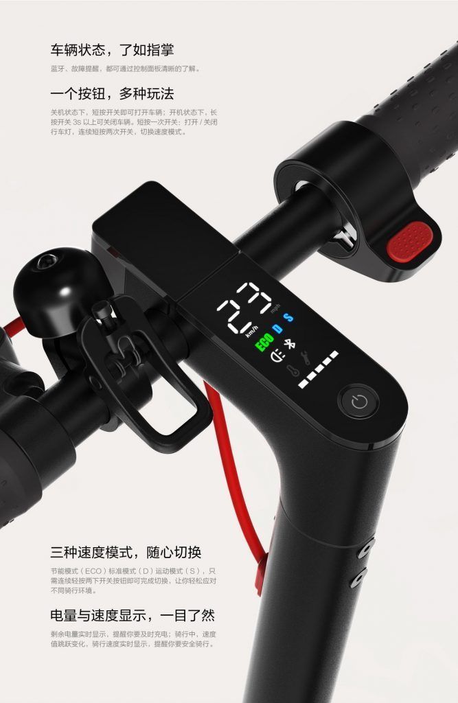 Mijia Electric Scooter Pro - Control Panel