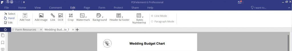 PDFelement Review - Edit Tab