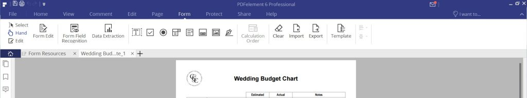 PDFelement Review - Form Tab