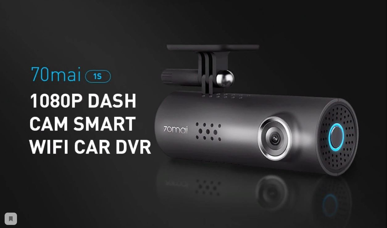 Grab Xiaomi 70mai 1S 1080P Dash Cam Smart WiFi Car DVR for $38.99 -  XiaomiToday
