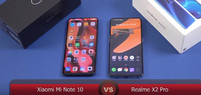 Xiaomi Note 10 vs Realme X2 pro