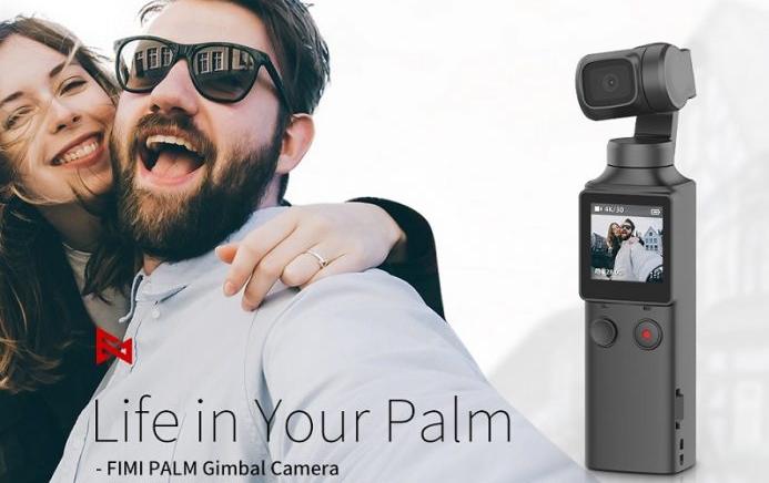Cámara de video portátil FIMI PALM 4K con junta universal HD