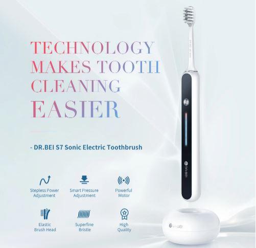 Xiaomi DR.BEI S7 بالموجات فوق الصوتية فرشاة الأسنان الكهربائية صدر: متوفر مقابل 79.99 دولارًا 1