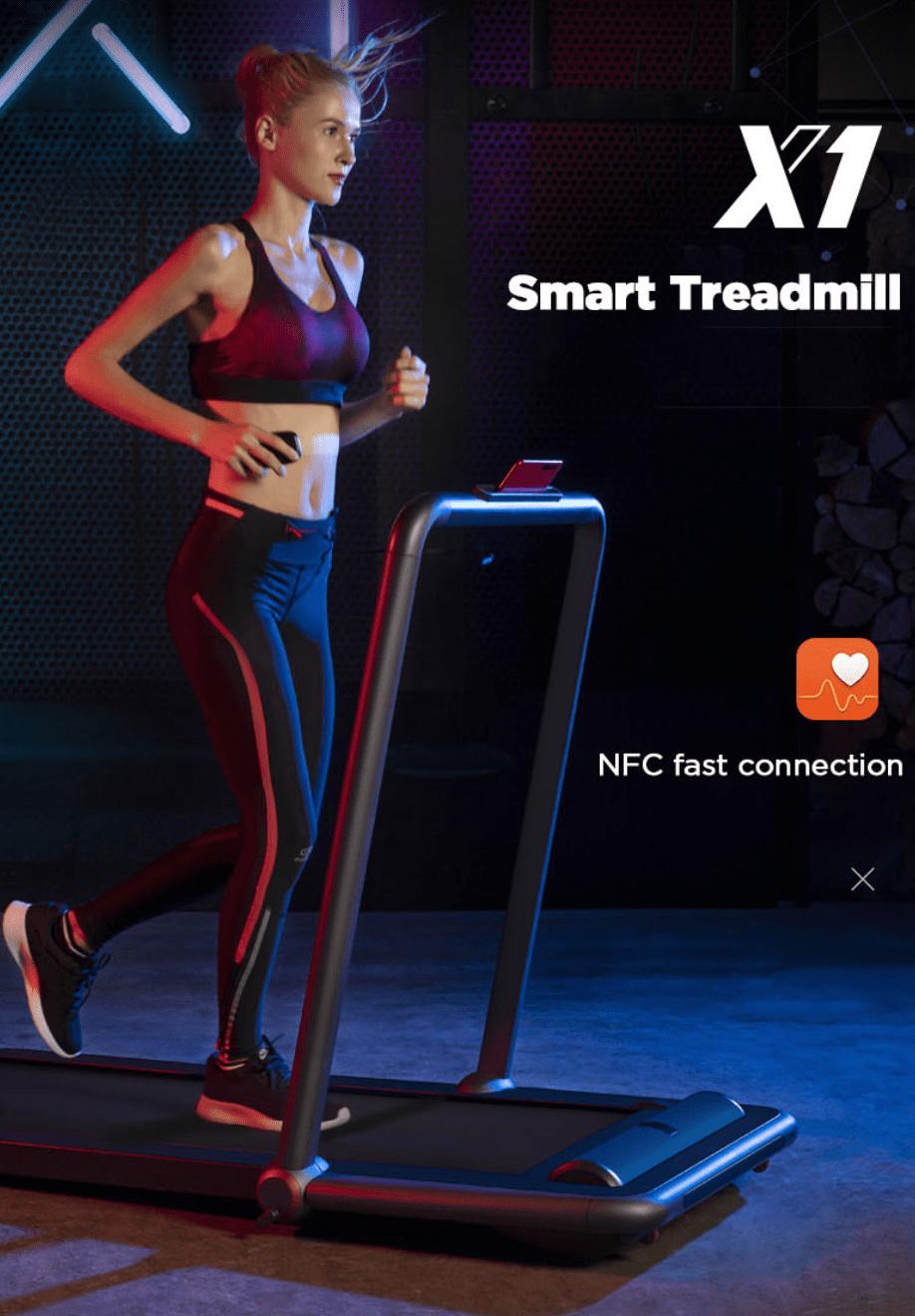 Huawei & Gymnastika X1 Treadmill 2 in 1 Smart APP Foot Step Speed Speed Folding Walking Walking Machine