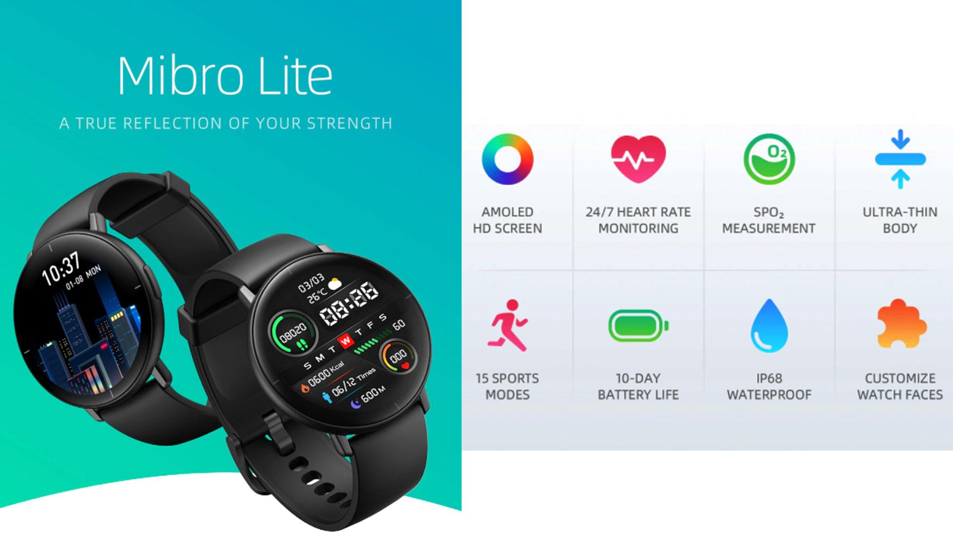 Mibro Lite Smartwatch Mibro Lite Xiaomi Mibro Lite Reloj mibro